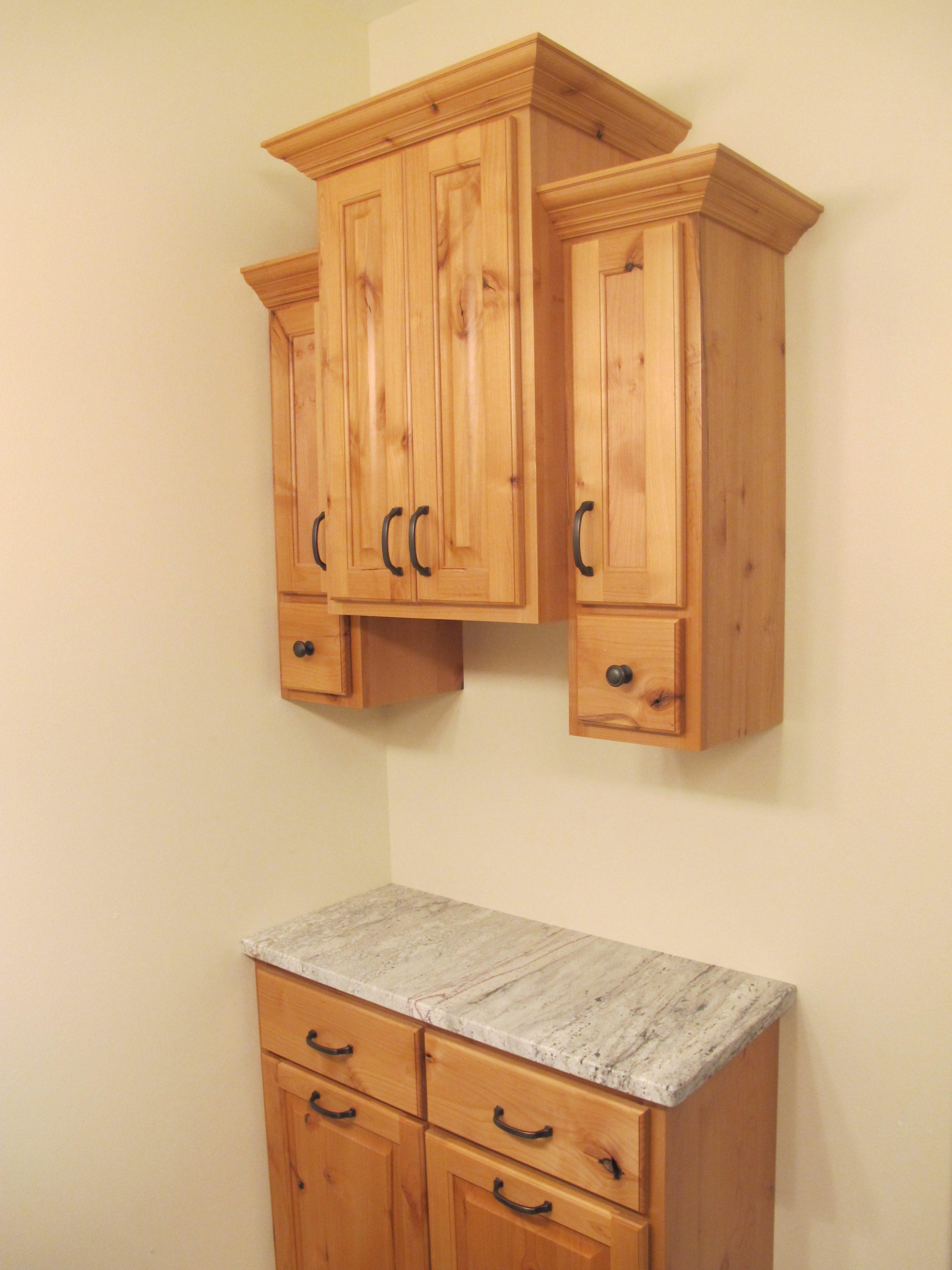 Rustic Alder Bathroom Cabinets Laundry